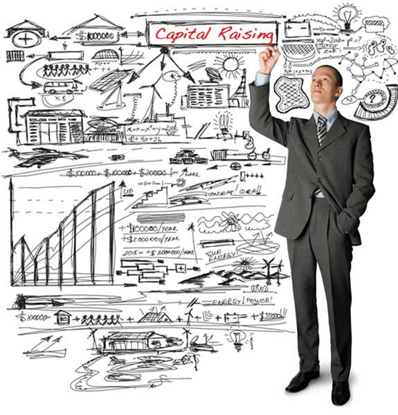man writing on blackboard macarthur finance capital raising